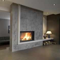 minimal / fireplace / warm design / minimal design #minimal #fireplace