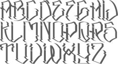MyFonts: Tattoo fonts Type design information compiled and maintained by Luc Devroye. Tattoo Lettering Styles, Graffiti Lettering Fonts, Chicano Lettering, Hand Lettering Alphabet, Script Lettering, Tattoo Fonts, Lettering Design, Gangster Letters, Gangster Fonts