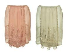 Topshop Scallop Lace Slip Skirt