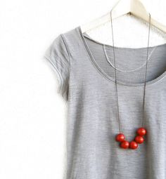 Wooden  geometric Necklace by JullMade on Etsy, $19.00 #jewelry #handmade #681team http://www.etsy.com/treasury/MTY0ODE3MTl8MjcyMDY5MDM4NQ/a-labor-of-love?index=2