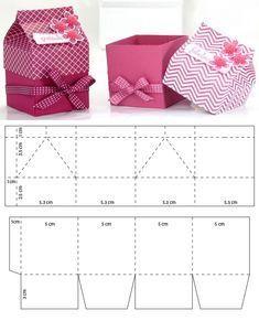 Mini milk carton for souvenirs – # cardboard. Diy Gift Box, Diy Gifts, Gift Boxes, Diy Paper, Paper Crafts, Paper Art, Paper Box Template, Gift Box Templates, Origami Templates