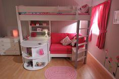 Stompa Casa 4 High Sleeper. So cute for a kid's room.