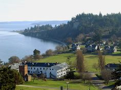 Ft. Worden State Park, Port Townsend, Washington. Rent a home on Officer's Row, take a picnic lunch or explore the old bunkers.