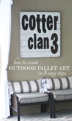 Create Outdoor Pallet Art in 8 Easy Steps