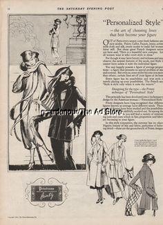 1922 Printz Biederman Co Womens Printzess Dress Vintage Fashion Art Ad