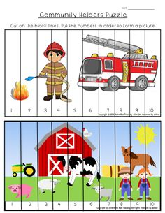 This is part of a 135 page Community Helpers Unit. It includes math and literacy worksheets, word wall sheets, graphic organizers, reading comprehension worksheets, emergent readers, a mini-reader, games, craftivities including a toolbox craftivity.