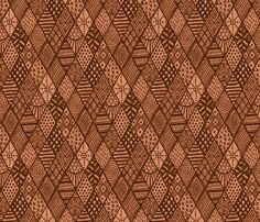 Global Vibes Terracotta fabric by dunnspun on Spoonflower - custom fabric