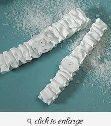 Winter Finery Garter Set - Bridal Garter - Wedding Garter - Garter Wedding