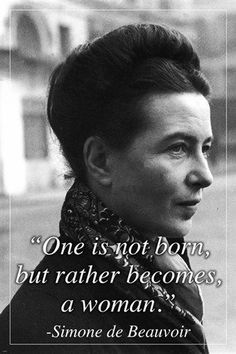 SIMONE DE BEAUVOIR french writer MOTIVATING QUOTE POSTER 24X36 intellectual