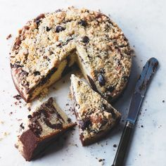 Rachel Allen's Marbled Chocolate Crumble Cake is the perfect afternoon treat! For the full recipe and more, click the image or visit Redonline.co.uk