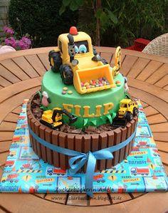 Traktor, Bagger, Baustelle, Bauernhof, .. Digger, Construction work ... alles für meinen Filip :-)