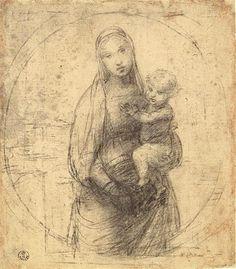 Raphael (Raffaello Sanzio), 1483-1520, Italian, Virgin and Child.  High Renaissance.  High Renaissance.