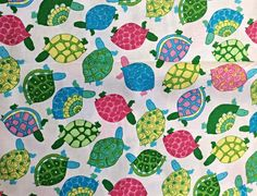 Turtles Fabric Timeless Treasures cotton by OmasFabricAndGifts