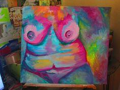 pintura al oleo, cuerpos pintado y alterado #pintura #art   #cuerpo  #desnudo  #impresionismo