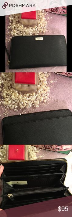❣️Sale! Kate Spade Neda...Wallet 💕❣️Sale!!Kate Spade Wallet with 12 credit card compartments and a middle zipper pouch for change! kate spade Bags Wallets