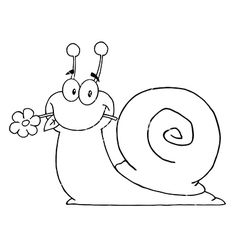 Cartoon snail vector 1561677 - by HitToon on VectorStock®