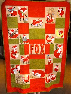 Embroidered Fox Quilt from Anita Goodesign