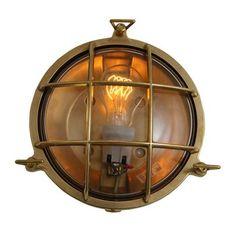 ACHICA | Adoo Nautical Wall Light, Antique Brass