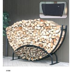 DIY firewood rack ideas will help you to keep the piles of firewood dry so you can enjoy bonfires in your back yard. Find and save ideas about firewood rack in this article. Outdoor Firewood Rack, Firewood Holder, Firewood Logs, Firewood Storage, Buy Firewood, Firewood Stand, Log Carrier, Log Holder, Log Home Decorating