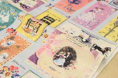 Japanese Fabric Yuwa Vintage Cards  50cm