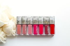 A Little Bit etc.: Clinique Pop Lacquer Lip Colors with Swatches 'Sugar Pop' 'Sweetie Pop' 'Love Pop'