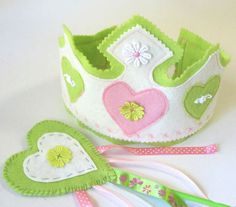 Girls First Birthday Crown and Wand First by MelsCreativeWishes, $26.00