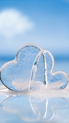 Hearts of ice Not cold hearted 😉 Love Heart Images, Heart Pictures, I Love Heart, Nature Pictures, Pretty Pictures, Look Wallpaper, Heart Wallpaper, Nature Wallpaper, Wallpaper Backgrounds