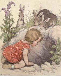 Illustration by Susan B Pearse 1878 -1980, English illustrator of children's books