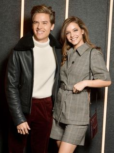 Dylan Sprouse and girlfriend Barbara Palvin make a stylish pair at the Boss show during New York Fashion Week on Wednesday. Barbara Palvin, Dylan Sprouse Girlfriend, Cute Celebrities, Celebs, Boss Show, Berlin Film Festival, New York Street Style, Cute Actors, Cute Couples Goals
