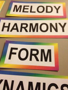 MelodySoup blog: Musical Word Wall - Proof that Learning is Doing - what I learned while assembling my word wall
