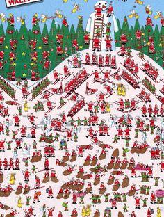 Lyons Lyons Shaw Where's Wally advent calendar :) Christmas Activities, Christmas Crafts, Hidden Pictures, Hidden Pics, Wheres Wally, Magic Squares, Advent Calenders, Theme Noel, When I Grow Up