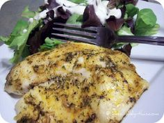 So very quick and easy, this lemon pepper garlic baked tilapia is a *must* make! This was a good tilapia recipe. I reduced the amount of paprika. Baked Tilapia Recipes, Baked Fish, Fish Recipes, Seafood Recipes, Paleo Recipes, New Recipes, Dinner Recipes, Cooking Recipes, Lemon Recipes