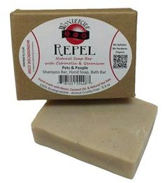 I'm going to give this a try on Norwood to control ticks & soothe bug bites.  Itchy boy. Natural shampoo bar with organic neem, aloe vera, citronella, and geranium. REPEL natural soap bar gently cleans and moisturizes all skin types while protecting skin from insect bites.� An amazing natural soap for repelling insects, preventing and soothing insect bites on pets and people.