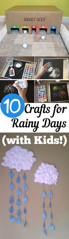 Crafts and games like these won't let the rain soak up all the fun