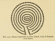 Stone Labyrinth on Wier Island, Gulf of Finland
