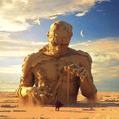 Awakening арт, Ben Redekop, Sci-Fi, Пустыня