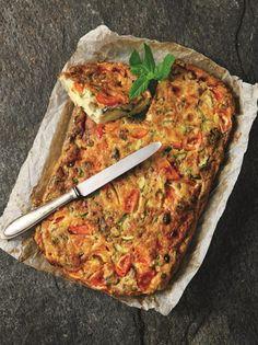 Φριτάτα με κουκιά, κολοκύθια και δυόσμο - www.olivemagazine.gr #olivemagazinegr #frittata Gf Recipes, Vegetable Pizza, Quiche, Food Porn, Vegetarian, Vegan, Vegetables, Breakfast, Magazine