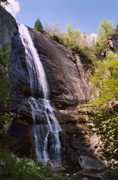 chimney rock lake lure N.C. Waterfall