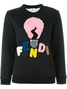 숍 Fendi shearling logo sweatshirt in Biffi from the world's best independent boutiques at farfetch.com. Shop 300 boutiques at one address.