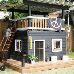 One-day backyard project ideas that spice up your outdoor space 26 . One-day backyard project ideas that spice up your outdoor space 26 One-day backyard project ideas that s. Kids Outdoor Play, Backyard For Kids, Backyard Projects, Home Projects, Backyard Ideas, Backyard House, Backyard Playhouse, Kids House Garden, Outside Playhouse