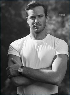 Hammer Covers GQ México, Talks Growing as an Actor Embracing casual style, Armie Hammer wears a Calvin Klein t-shirt and Cartier watch. Armie Hammer, Gq, Chad White, Look Man, The Lone Ranger, Raining Men, Male Beauty, Gorgeous Men, Beautiful Boys