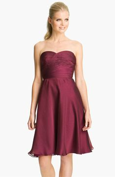 ML Monique Lhuillier Bridesmaids Pleated Chiffon Sweetheart Dress (Nordstrom Exclusive) | Nordstrom