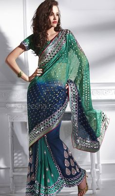 Sari. Love the colors.... why aren't these more popular??? It looks amazing and so beautiful!!!