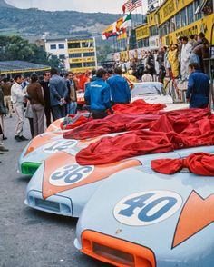 "1970 Targa Florio Car #12, Jo Siffert / Brian Redman Porsche 908/03 (Finished 1st) Car #36, Bjorn Waldegard, Richard Attwood Porsche 908/03 (Finished 5th) Car #40, Pedro Rodriguez, Leo ""The Flying Finn"" Kinnunen,Porsche 908/03. (Finished 2nd) Photographer - Eric della Faille Venue - Piccolo Circuito delle Madonie Location - Cerda, Italy #Revs #Porsche #908 #9083 #RaceCars #Racing #TargaFlorio #Italy #Sicily #endurance #Gulf @porsche"