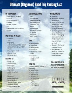 Beginner's guide to packing for a week-long road trip Road Trip Packing List, Road Trip Hacks, Travel Packing, Annual Pass, Van Life, Save Yourself, Wander, Simple, Tips