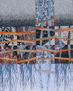Blue November art quilt by Bobbie Sullivan