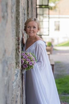 Beautiful bride in Fredrikstads Old Fortified Town