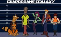 Guardians of the Galaxy / Scooby Doo mash-up