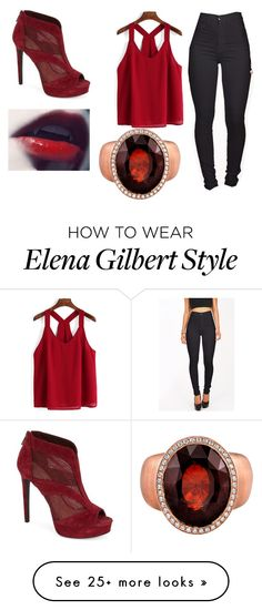 """""""Vampire"""" by pinkfacepuffdoll on Polyvore featuring moda, Jessica Simpson e Michael Barin"""