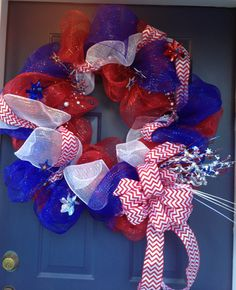 My first deco mesh wreath!